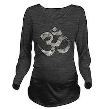VintageOmBk Long Sleeve Maternity T-Shirt
