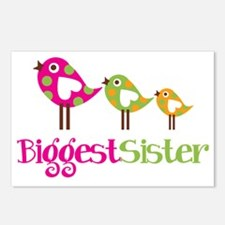PolkaDotBirds3BiggestSist Postcards (Package of 8)