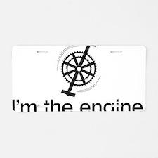 imTheEngineBLK Aluminum License Plate