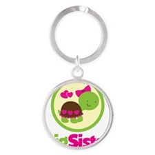 TurtleCircleBigSister Round Keychain