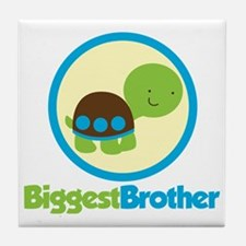 TurtleCircleBiggestBrother Tile Coaster