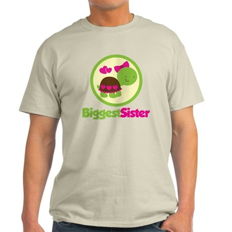 TurtleCircleBiggestSister Light T-Shirt