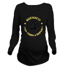 Runway Yellow Long Sleeve Maternity T-Shirt