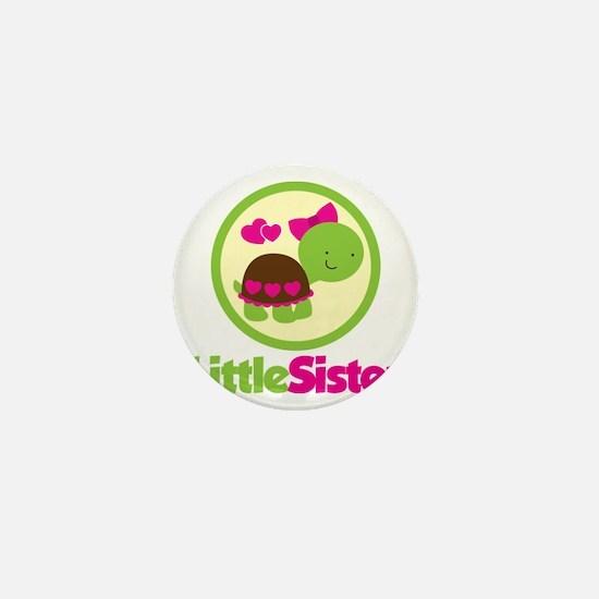 TurtleCircleLittleSister Mini Button