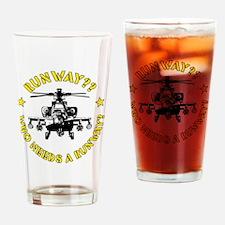 Runway Yellow Drinking Glass