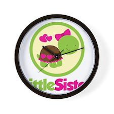 TurtleCircleLittleSister Wall Clock