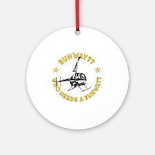 Robinson Runway Round Ornament