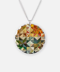 Fun Patchwork Quilt Necklace