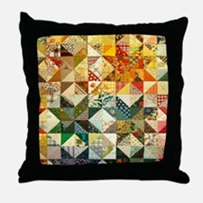 Fun Patchwork Quilt Throw Pillow