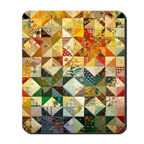 Fun Patchwork Quilt Mousepad