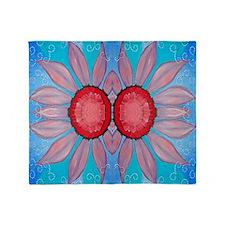 pinkflower Throw Blanket