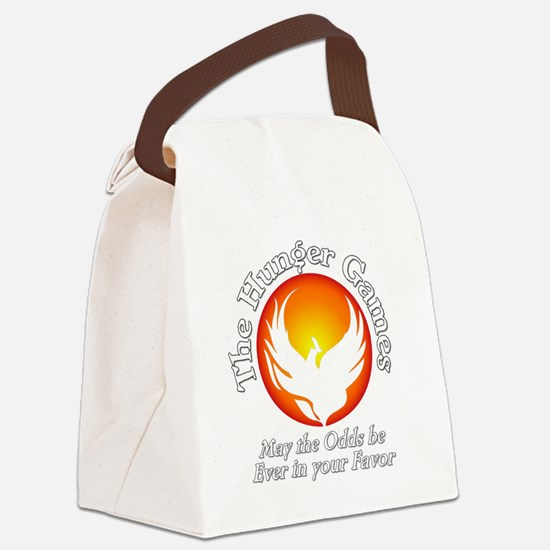 TheHungerGames001dark Canvas Lunch Bag