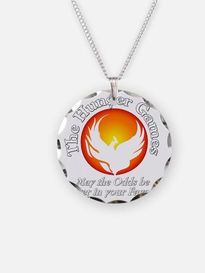 TheHungerGames001dark Necklace Circle Charm