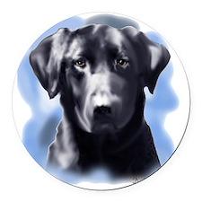 black lab portrait Round Car Magnet