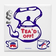 teaparty2 Tile Coaster