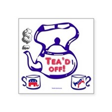 "teaparty2 Square Sticker 3"" x 3"""