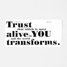 Trust1 Aluminum License Plate