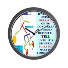 Bully forbidden.TY.2 Wall Clock
