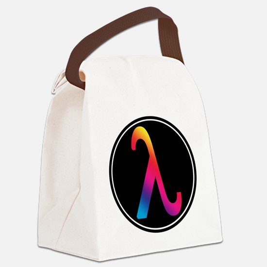 Lambda Badge Canvas Lunch Bag
