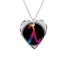 Lambda Badge Necklace