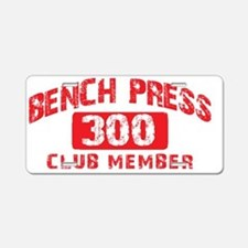 bench press 300 Aluminum License Plate