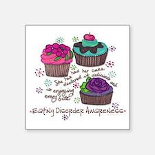 "Cupcake Square Sticker 3"" x 3"""