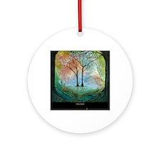 16x20-bkArt-trees(1) Round Ornament