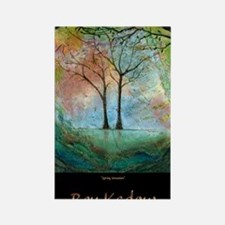 16x20-bkArt-trees(1) Rectangle Magnet