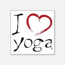 """yoga Square Sticker 3"""" x 3"""""""
