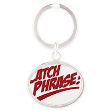 Catchphrase_2co Oval Keychain