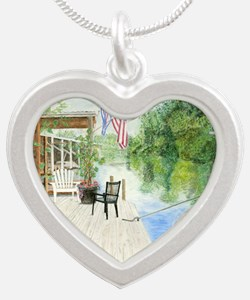 20x16-bkArt_tuffy Silver Heart Necklace