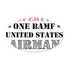 BAMF2 Oval Car Magnet