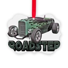 flamed roadster dark green Ornament