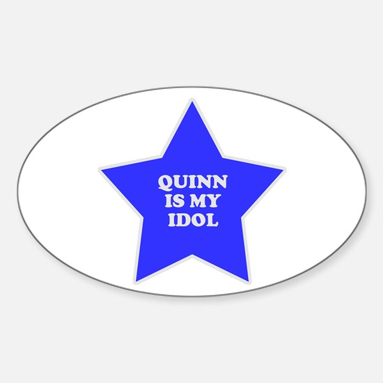 Quinn Is My Idol Oval Decal
