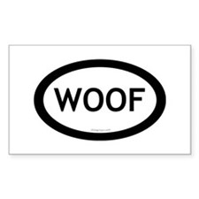 Woof Rectangle Decal