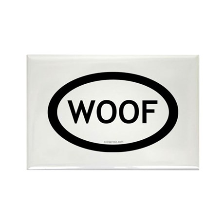 Woof Rectangle Magnet (100 pack)