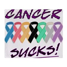 Cancer sucks Throw Blanket
