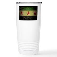 syriaflaggrunge Travel Mug