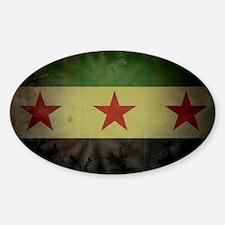 syriaflaggrunge Decal