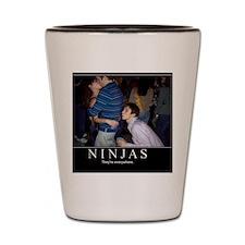 demotivational-poster-ninjas Shot Glass