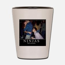 demotivational-poster-ninjas Shot Glass