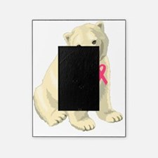 breast cancer pink ribbon polar bear Picture Frame