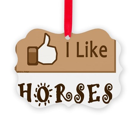 LikeHorses Picture Ornament