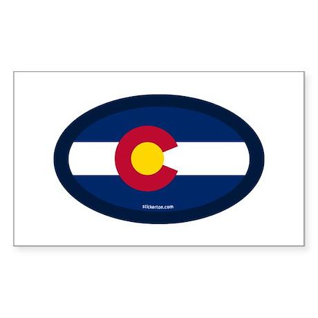 Colorado State Flag Rectangle Sticker