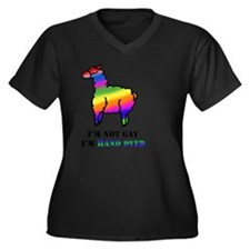 Gay Alpaca Women's Plus Size Dark V-Neck T-Shirt