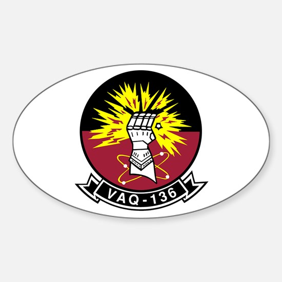 VAQ-136 Gauntlets Oval Decal