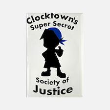 Clocktown SSSJ Bomber Blue Rectangle Magnet