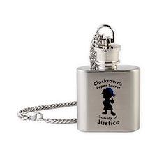 Clocktown SSSJ Bomber Blue Flask Necklace