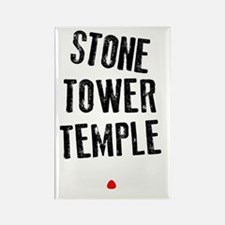 Stone Tower Temple Rectangle Magnet