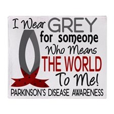 D Means The World To Me Parkinsons D Throw Blanket